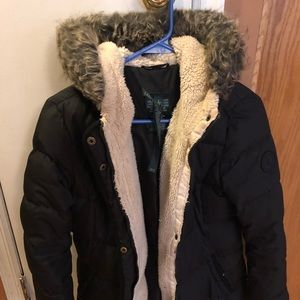 Ralph Lauren black down coat